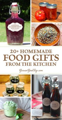 Create some homemade food gifts that everyone will enjoy. Need some ideas? Here … Create some homemade food gifts that everyone will enjoy. Need some ideas? Here are some culinary inspired presents that you can make in your kitchen. Diy Food Gifts, Edible Gifts, Food Crafts, Homemade Food Gifts In A Jar, Best Food Gifts, Homemade Recipe, Mason Jar Gifts, Gift Jars, Meals In A Jar