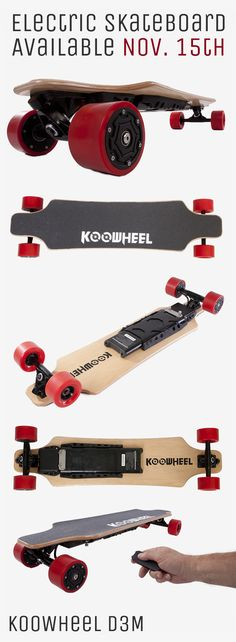 The KooWheel D3M Longboard Electric Skateboard is the newest addition to electronic transportation. With the provided remote control, you can adjust speed and get rolling to a max speed of up to 27 mph! PRE-ORDER TODAY!