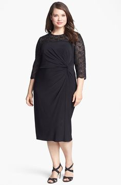 Alex Evenings Embellished Lace & Jersey Dress (Plus Size) available at #Nordstrom