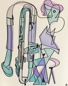 Star of the Celestial Pivot x 17 ink and watercolor piece Basson, Instruments, Valentine Gifts, Etsy Shop, Watercolor, Ink, Celestial, Stars, Orchestra