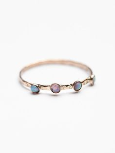 Crown Opal Delicate Ring