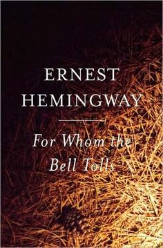 He lay flat on the brown, pine-needled floor, his chin on his folded arms, and high overhead the wind blew in the tops of the pine trees.    -- For Whom the Bell Tolls by Ernest Hemingway