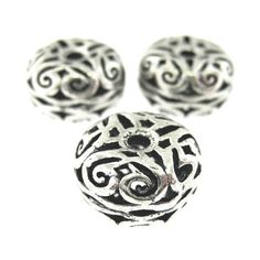 6 pcs 12mm  Antique Oxidized Silver Plated by FancyGemsandFindings, $6.00 Oxidized Silver, Antique Silver, Silver Beads, Silver Rings, Silver Plate, Plating, Cufflinks, Rings For Men, Antiques