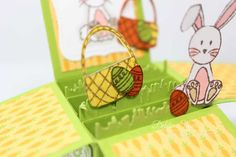Easter-Pop-UP-Box-3 Box Cards Tutorial, Card Tutorials, Pop Up Box Cards, Exploding Boxes, Kids Cards, Stampin Up Cards, Card Ideas, Diy And Crafts, Projects To Try