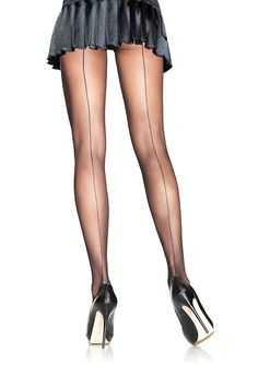 Mystery Lover Sheer Back Seam Stockings Tights Hosiery - 2 Colors Avai – Indie XO Quoi Porter, Stocking Tights, Women's Tights, Black Pantyhose, Pantyhose Outfits, Fishnet Stockings, Black Stockings, Leg Avenue, Plus Size Lingerie