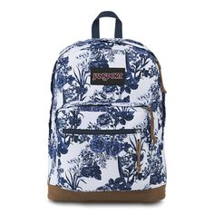 87fad5268f94 Galleon - JanSport Right Pack Expressions Laptop Backpack - White Artist  Rose