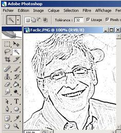 tutorial Transformer une photo ou image en dessin comique avec photoshop sm