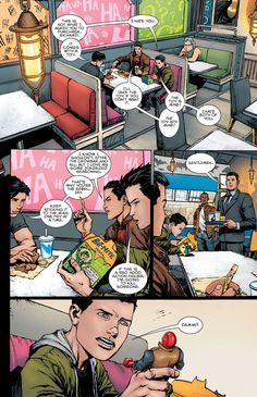 Batman (2016) issue 16 The bat boys at Batburger