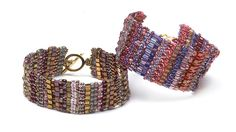 Build a bracelet bead by bead as you stack up rows of different colors, shapes and sizes