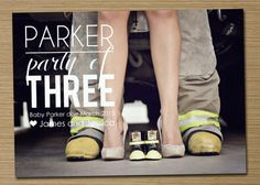 Pregnancy announcement Printable Party of... by cardsetcetera, $15.00 baby announcement