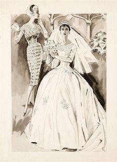 1950s Bridal Fashions ~ LÁMINAS VINTAGE,ANTIGUAS,RETRO Y POR EL ESTILO.... (pág. 464) | Aprender manualidades es facilisimo.com