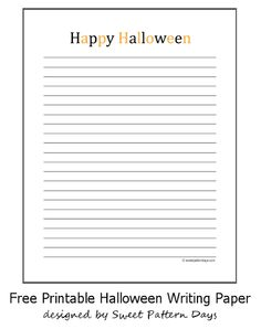 Free Printable Fall Themed Writing Paper  Writing  Pinterest