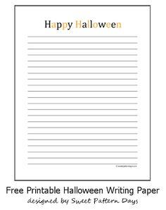 happy halloween writing paper