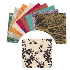 """Lokta origami paper. 12 assorted colors of beautiful nepalese lokta paper in 6"""" size- great for origami or any paper craft project!"""