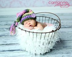 CROCHET PATTERN Baby Rainbow Tassel Hat Photography Prop. $2.99, via Etsy.
