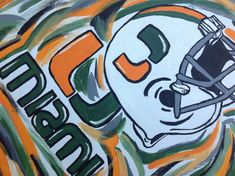 University of Miami Hurricanes Football Painting