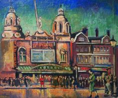 """Thanks for your interest in the ELG & RT's This is Hackney Empire by Albert Turpin: in the show Camden London, East End London, London Art, Camden Town, Bow Art, City Gallery, London Places, Urban Life, City Art"
