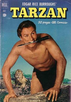 Tarzan Dell Comics, October 1951 There's a nice copy of Tarzan sitting in my comic collection! Book Cover Page, Cover Pages, Fiction And Nonfiction, Pulp Fiction, Fun Comics, Marvel Dc Comics, Lex Barker Tarzan, Tarzan Of The Apes, African Jungle