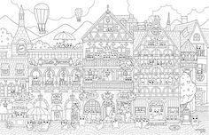 Una Ilustracion Para Pequena Ciudad Libro De Cuentos