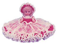 "0798 Crochet Pattern 13"" JENNIFER Bed Doll"
