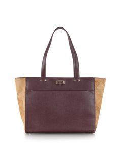 "Alviero Martini 1A Classe Medium ""Avenue"" Deep Bordeaux Leather Tote Bag"