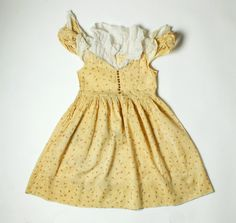 Vintage 1920s Girl's Dress  Yellow Floral Dress  by FatEnvelope, $75.00