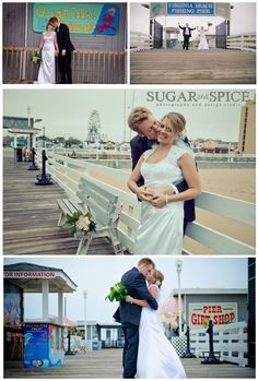 Picturesque wedding photos from the resort area of Virginia Beach!