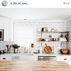 I love when I find a IG feed that I simply can't get enough of and right now that's @_a_life_of_love_ I'm swooning over her kitchen and minimalist approach to styling her home! If your looking for a new feed to follow...I highly recommend this one as swoon worthy!#followfriday