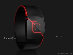 Vein Watch by Samuel Jerichow - DIsplay time in beautiful capillaries like LED lights. Funny Watch, Led Watch, Watch Display, Telling Time, Watches For Men, Men's Watches, Watch Case, Futuristic, Jewelery