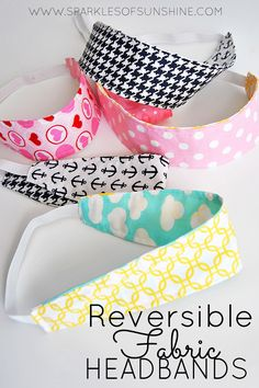 Make your own reversible fabric headbands easily with these directions and templates from Sparkles of Sunshine.