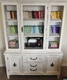 Mia Dolce Originals: Repurposed China Cabinet: Fabric Storage