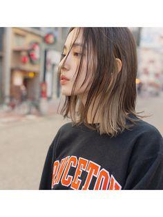 Two Color Hair, Korean Hair Color, Hair Color Streaks, Hair Highlights, Hair Color Underneath, Short Grunge Hair, Hair Arrange, Aesthetic Hair, Hair Images