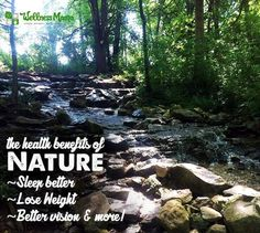 The Health Benefits of Nature (Ecotherapy)  Did you know there are health benefits of nature? Clean air to natural exercise, Vitamin D and grounding, nature is healing in many ways.