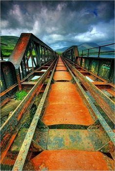 Abandoned nearly 200 years old railway bridge in Cahersiveen, Kerry, Ireland Copyright: Eric Dega