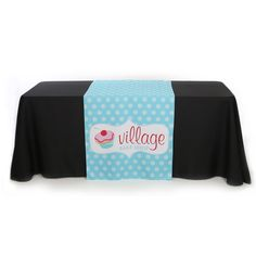 Check out this customizable product from www.totallypromotional.com/table-covers/table-runners/30-x-60-full-color-table-runner.html