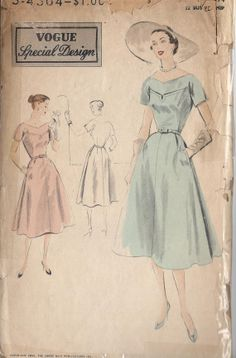 1952 Misses' Dress Pattern Flared Skirt by CottageLaneTreasures, $14.00