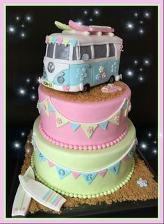 VW Campervan Cake♡