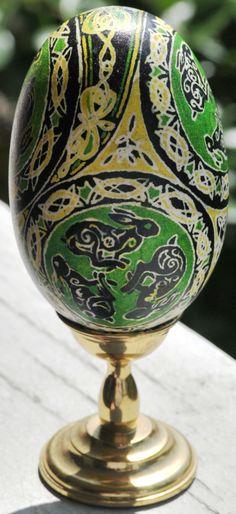Celtic egg  Batik Duck Egg-Celtic Bun 2 by MissMinda.deviantart.com on @deviantART