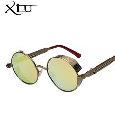 33f3385ba1a Metal Frame Eyewear Sunglasses Glasses Retro Men Women Lens Round Vintage  New in Clothing