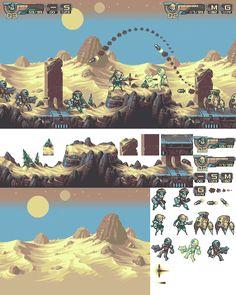 Vierbit Level 5 - Desert http://www.pixeljoint.com/pixelart/82402.htm
