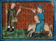 153 (the Pilgrim encounters… Medieval Life, Medieval Art, Medieval Manuscript, Illuminated Manuscript, Aix En Provence, High Middle Ages, Book Of Hours, Historical Art, Viking Age