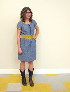 Sorbetto Dress -a free colette pattern. I like this lengthened to a dress.