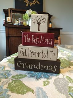 The best moms get promoted to grandmas Nana Mimi pregnancy announcement birthday gift Mother's Day gift custom personalized distressed