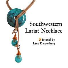 JewelryMakingJournal.com : Southwestern Lariat Necklace Tutorial by Rena Klingenberg