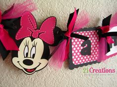 Minnie Mouse High Chair Banner in Hot Pink by 21CreationsToo