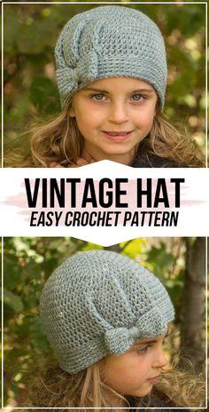 crochet The Vienna Vintage Hat pattern - easy crochet hat pattern for beginners
