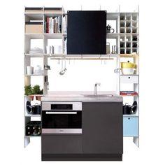 Aus Dem FNP Regalsystems Lässt Sich Mittels Überbau Und Einigen  Zusatzmodulen Eine Unkonventionell Schöne Küche Bauen