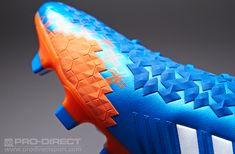 adidas Football Boots - adidas Predator LZ TRX FG - Firm Ground - Soccer Cleats - Pride Blue-Running White-Orange