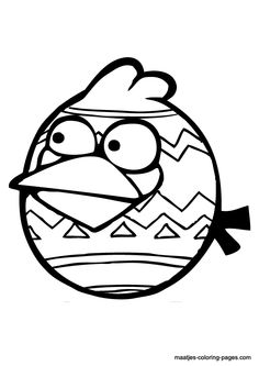 angry birds coloring pages easter - photo#11