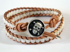button Double Wrap Bracelet 4mm stones. I dont like the skull, but like the idea of the bracelet